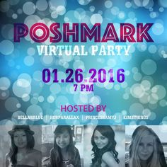 Co-hosting a virtual Poshmark party 1/26 Hey ladies! I'm co-hosting another Poshmark party with my wonderful pffs! Please spread the word and follow me! I'm looking for host picks so please tag your friends and share share share! Share this listing and some of my items! Look forward to partying with you! ❤️ Other