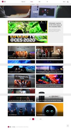 Enthusiastic reactions of CES 2020 visitors to LG's innovative OLED TV Lg Oled, Science Park, Innovation, Communication, Social Media, Activities, History, Historia, Social Networks