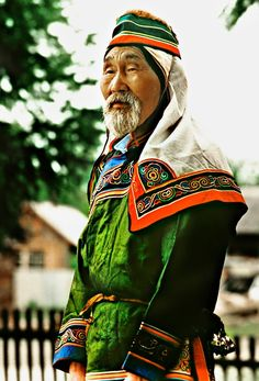 Shaman - medicine man, Udege people; Far East, Russian Federation