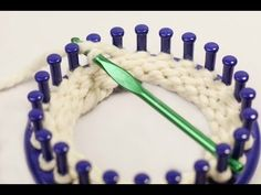 Single Crochet Bind off or Chain One BO (Loom knitting) - YouTube