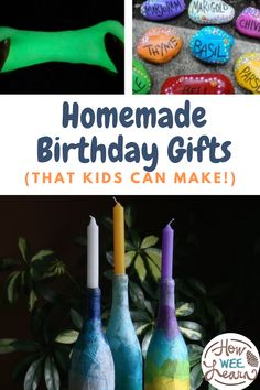 These homemade birthday gifts are perfect for kids to make all on their own for sisters, for brothers, for Dad, for Mom, for just about anyone! There is something on this DIY gift list perfect for your little one to make and gift to a loved one. Diy Projects For Kids, Crafts For Kids To Make, Arts And Crafts Projects, How To Make, Great Christmas Gifts, Holiday Fun, Holiday Gifts, Homemade Birthday Gifts, Birthday Gifts For Kids