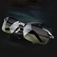 Polarized Day Night Vision Clip-on Flip-up Lens Sunglasses Driving Glasses Felix-Box