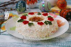Вкусный салат «Пасхальный венок» Grains, Rice, Food, Essen, Meals, Seeds, Yemek, Laughter, Jim Rice