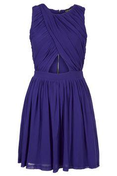 Wrap Mesh Ruche Skater Dress - Going Out Dresses - Bodycon Dresses - Dresses - Clothing - Topshop