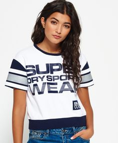 Superdry Cropped Quarter top with round neck