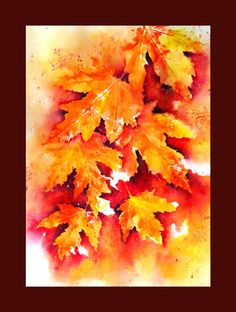 WATERCOLOR  CLASS – FALL LEAVES AND BERRIES
