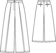 Gaucho Pants 05/2014 #121 - Burda Style