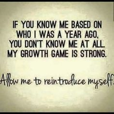 Allow me to reintroduce myself...