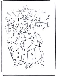 Peter Rabbit (coloriage 2)