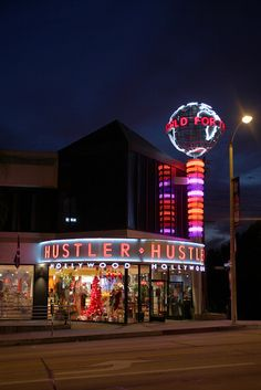 Hustler @ The Sunset Strip in West Hollywood.