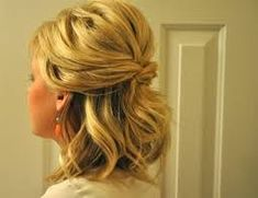 Image result for wedding half updos for medium length hair