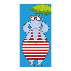 hippo at the beach