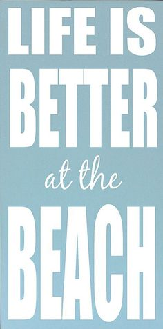 Vinyl Crafts Blue & White Life Is Better at the Beach Wall Sign