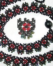 Mini Karmen Net Necklace Pattern by Holle Randy at Bead-Patterns.com. Lots of free beading patterns and tutorials are available!