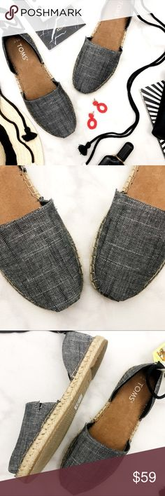 4566851367bf Toms Black   White Ankle Tie Espadrilles Details  • Size 6.5 • Black and  white