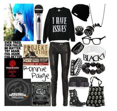 """Performing at Projekt Revolution"" by digital-minerva ❤ liked on Polyvore featuring Neff, Moda In Pelle, Balmain and Helene Jewelry"