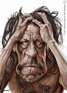 Caricatura de Danny Trejo.