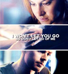 Divergent Tris and Tobias Divergent Theo James, Tris And Tobias, Divergent Tris, Divergent Quotes, Allegiant, Insurgent, Tris Und Four, Dont Let Go, Im Selfish