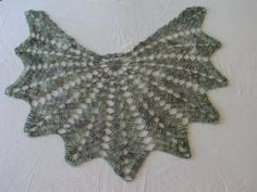 Green Crochet Shawl Pattern with Crochet by uniquedesignsbykathy