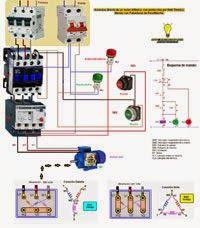 Esquemas eléctricos: Motor trifasico cón protección por rele termico ma...