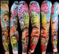 Tattoo Artist - Anabi Tattoo - www.worldtattoogallery.com/sleeve_tattoos