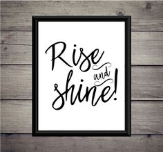 Rise and Shine  Download  Digital Print  by ThoughtWorksByAbby