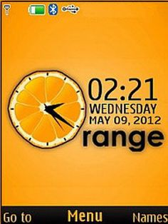 Download free Orange 3D Clock S40 Theme Mobile Theme Nokia mobile theme. Downloads hundreds of free 5300,6300,6267,6500 classic,6555,5310,5610,6301,6500 slide,6300i,5000,5220 XpressMusic,6600 slide,6600 fold,3600 slide,6233,6234,6270,6280,6282,6700 classic,6303 classic,2700 classic,6600i slide,2730 classic,X3,6303i classic,X2 themes to your mobile.