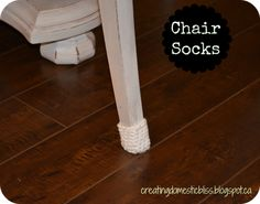 DIY: creating domestic bliss: Granny presents the chair sock!