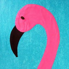 Fancy Flamingo Applique Pattern PDF