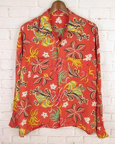 Long Sleeve Hawaiian Shirt, Vintage Hawaiian Shirts, Aloha Shirt, Floral Tops, Hawaiian Dresses, Thunder, Outfit Ideas, Graphics, Clothes