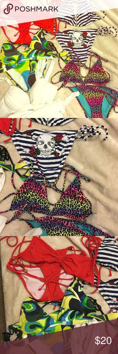 All gently used bikinis or never worn All smalls and mediums. Comment below for details. Price range 15-20. Swim Bikinis