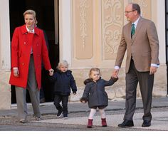 Prince Jacques and Princess Gabriella attended their first children's Christmas ceremony, marking their second holiday event of the season. The twins, who recently celebrated their second birthday on December 10, helped spread Christmas cheer with their parents Princess Charlene and Prince Albert at the event held at the Monaco royal palace.