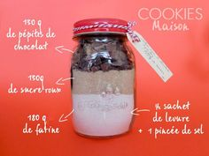 Kit Mug Cake pour cadeau gourmand Kit Cookies, Cookies Et Biscuits, Cupcake Cookies, Gourmet Gifts, Pastry And Bakery, Diy Presents, Jar Gifts, Mason Jar Diy, Cookie Recipes