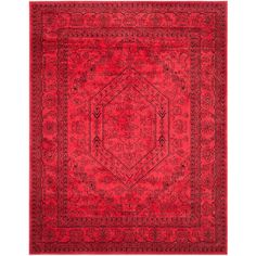 Safavieh Adirondack Red/Black 6 ft. x 9 ft. Area Rug - ADR108F-6 - The Home Depot