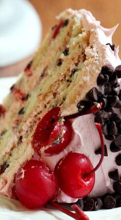 Cherry Chocolate Chip Cake
