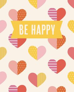 8x10 be happy by kensiekate on Etsy, $15.00