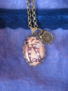 Alice What if Necklace Cameo Pendant. £15.00, via Etsy.