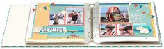 Make an album dedicated to vacations! Scrapbooking layouts by theme rather than order can be a nice way to switch things up. #scrapbooking #layoutinspiration