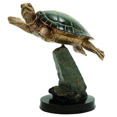 Polystone Turtle Sculpture