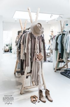 Sukha-Amsterdam by Paulina Arcklin Boutique Interior, Design Boutique, Shop Fittings, Store Interiors, Retail Interior, Retail Shop, Retail Design, Store Design, Clothes