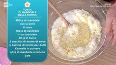 La prova del cuoco | Ricetta torta di mandorle della nonna di Anna Moroni