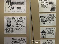 Education to the Core: Weekend Reflections: FREE Narrative Writing Posters from Jodi Southard from Fun in First!