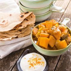 Shams curried pumpkin (vegan + gluten free): Low in kilojoules and packed with vitamin A and energy-giving complex B-vitamins, pumpkin is great for skin and eye health as well as for keeping cholesterol and weight in check. Try this flavoursome curry as a side dish or a hearty vegetarian main. Click here http://www.fernwoodfitness.com.au/Weight-Loss---Exercise/Recipes---Nutrition/All-Recipes/Sham-s-curried-pumpkin-(vegan---gluten-free)/#