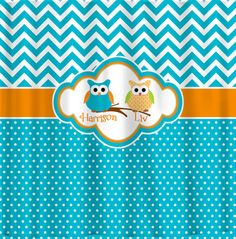 Custom Personalized Chevron Shower Curtain  Turquoise by redbeauty, $78.00 So cute but I would do it in a different color.