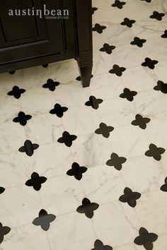 Powder Room ~ Quatrefoil Tile ~ by Austin Bean Design Studio