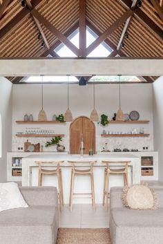 Kitchen Interior, Interior And Exterior, Interior Design, Interior Ideas, Bali Style Home, Bali House, Beautiful Villas, Tropical Houses, Küchen Design