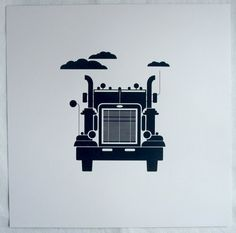 Semi truck print - yellowlion  The hubs is sure to love this