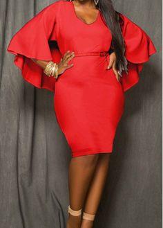 Red Cloak Design High Wasit Sheath Dress with cheap wholesale price, buy Red Cloak Design High Wasit Sheath Dress at Rotita.com !