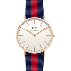 DANIEL WELLINGTON 0501DW Classic Oxford ladies watch (205 SGD) ❤ liked on Polyvore featuring jewelry, watches, daniel wellington, stainless steel wrist watch, leather-strap watches, stainless steel jewellery and oxford jewelry
