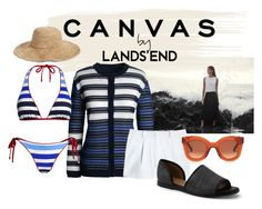 """""""Paint Your Look With Canvas by Lands' End: Contest Entry"""" by chelsofly on Polyvore featuring Lands' End, Canvas by Lands' End, Nordstrom and CÉLINE"""